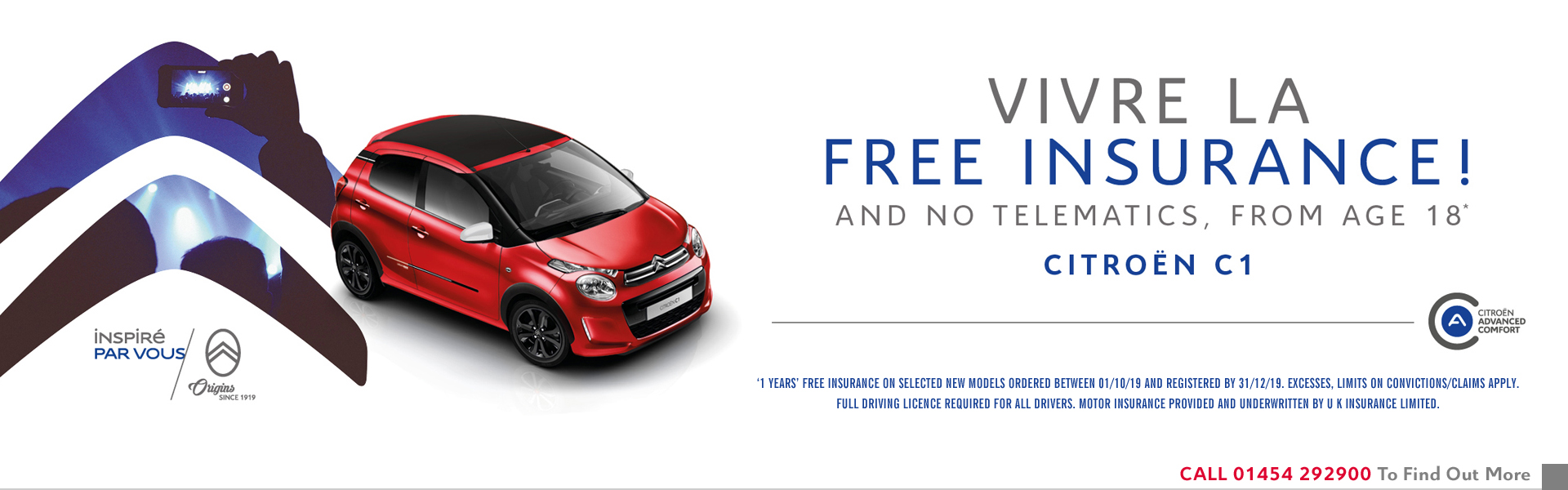 FREE INSURANCE on C1 at WILCOX  Citroen